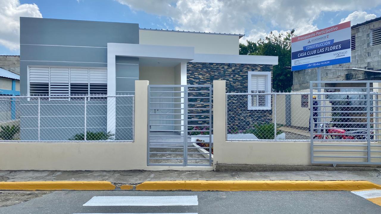 Alcaldía Santiago entrega Casa Club en sector Las Flores con fondos del Presupuesto Participativo