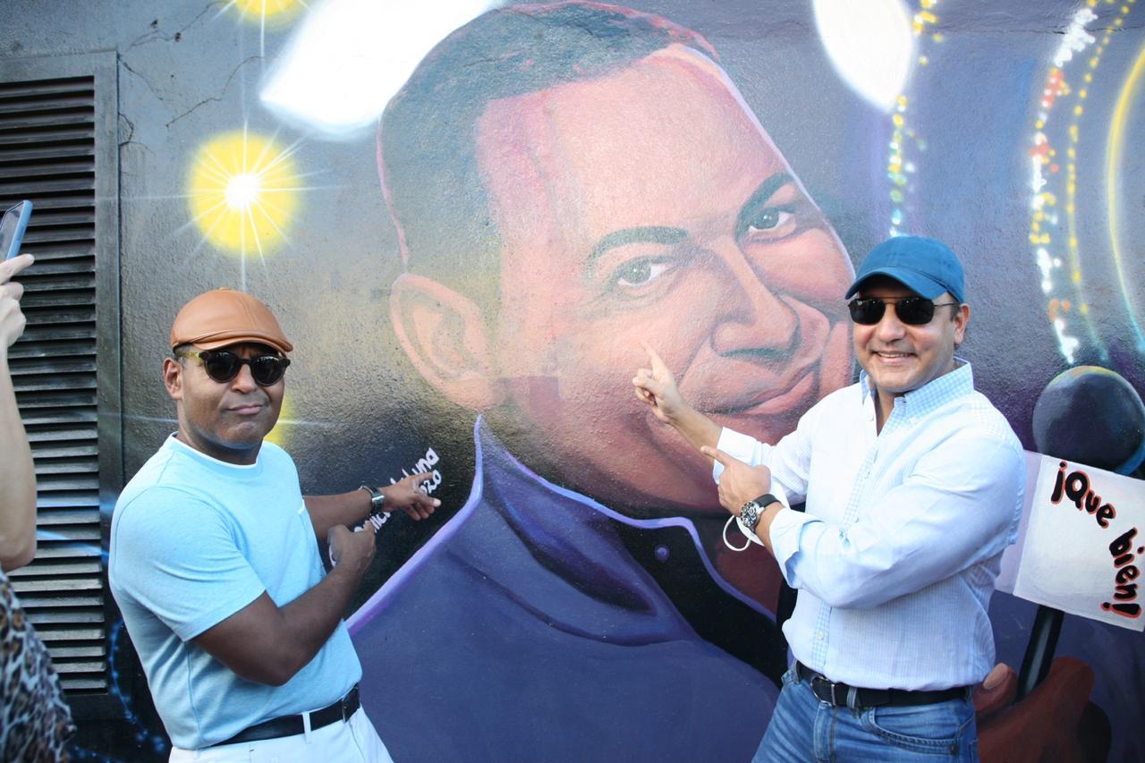 Alcaldía Santiago rinde homenaje a Tony Dandrades, Celines Toribio y Adalgisa Pantaleón con bellos murales