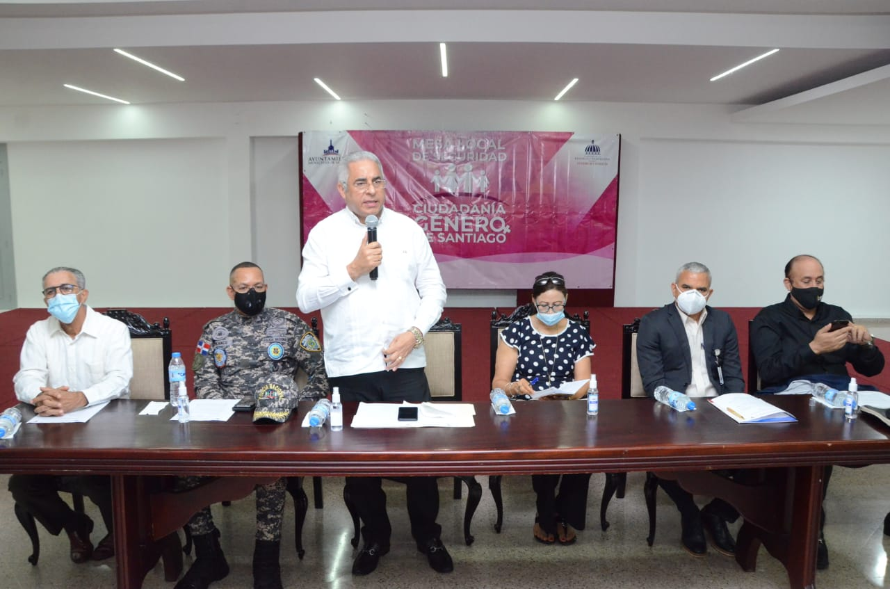 Mesa de Seguridad Ciudadanía y Género de Santiago se reúne y pasa balance a trabajos realizados